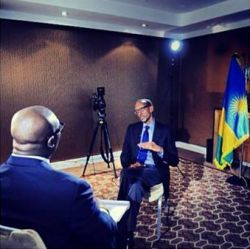 Komla speaks to Kagame