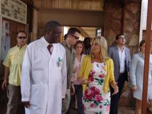 Dr Mukwege and Jill Biden