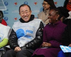 BAN KI-MOON and MRS DE BLASIO