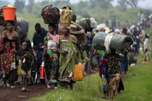 CONGO REFUGEES ON MARCH